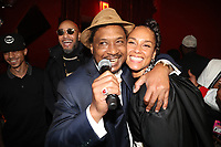 NEW YORK, NY- SEPTEMBER 12: Super Cat and Alicia Keys pictured at Swizz Beatz Surprise Birthday Party at Little Sister in New York City on September 12, 2021. <br /> CAP/MPI/WG<br /> ©WG/MPI/Capital Pictures