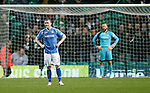 Celtic v St Johnstone...23.01.16   SPFL  Celtic Park, Glasgow<br /> Tam Scobbie and Alan Mannus react after conceding Celtic's second goal<br /> Picture by Graeme Hart.<br /> Copyright Perthshire Picture Agency<br /> Tel: 01738 623350  Mobile: 07990 594431