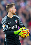 Goalkeeper Jan Oblak of Atletico de Madrid in action during their La Liga match between Atletico de Madrid and FC Barcelona at the Santiago Bernabeu Stadium on 26 February 2017 in Madrid, Spain. Photo by Diego Gonzalez Souto / Power Sport Images