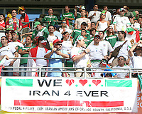 Iranian American fans. Mexico defeated Iran 3-1 during a World Cup Group D match at Franken-Stadion, Nuremberg, Germany on Sunday June 11, 2006.