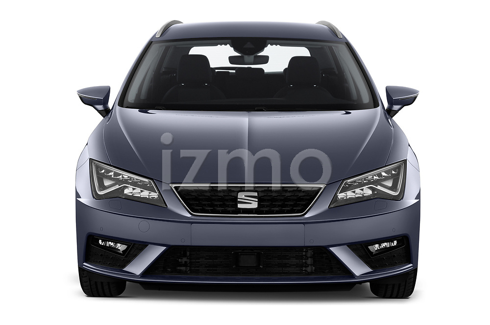 Car photography straight front view of a 2018 Seat Leon ST Style 5 Door Wagon