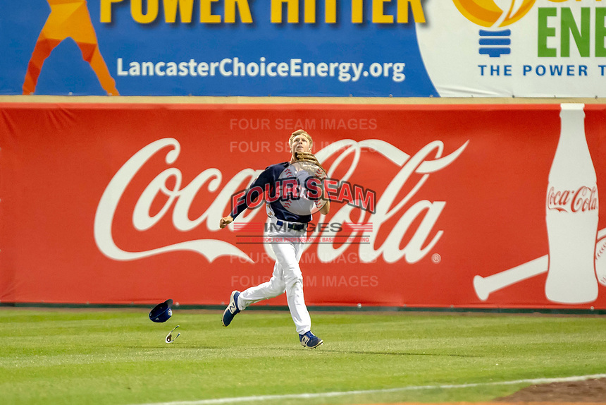 Logan Landon (6) of the Rancho Cucamonga Quakes in action against the North Division during the 2018 California League All-Star Game at The Hangar on June 19, 2018 in Lancaster, California. The North All-Stars defeated the South All-Stars 8-1.  (Donn Parris/Four Seam Images)