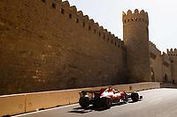 4th June 2021; Baku, Azerbaijan; Free practise sessions;  16 LECLERC Charles mco, Scuderia Ferrari SF21, action during the Formula 1 Azerbaijan Grand Prix 2021 at the Baku City Circuit, in Baku, Azerbaijan