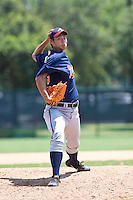 Shohei Sekiguchi of the Gulf Coast League Braves during the game against the Gulf Coast League Phillies July 10 2010 at the Disney Wide World of Sports in Orlando, Florida.  Photo By Scott Jontes/Four Seam Images