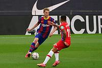 29th April 2021; Camp Nou, Barcelona, Catalonia, Spain; La Liga Football, Barcelona versus Granada; Frenkie de Jong  Barcelona midfielder cuts inside as Darwin Machís tracks his run