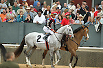 HOT SPRINGS, AR - FEBRUARY 20: #2 Silver Dust, with Corey Lanerie aboard, during the post parade of the Southwest Stakes at Oaklawn Park on February 20, 2017 in Hot Springs, Arkansas. (Photo by Justin Manning/Eclipse Sportswire/Getty Images)
