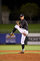 Arizona State University Sun Devils relief pitcher RJ Dabovich (11) delivers a pitch during an Instructional League game against the Texas Rangers at Surprise Stadium on October 6, 2018 in Surprise, Arizona. (Zachary Lucy/Four Seam Images)
