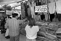 - Trieste, open air market frequented by Yugoslav citizens crossing the border in search of Western clothing (July 1989)<br /> <br /> - Trieste, mercato all'aperto frequentato da cittadini Yugoslavi che attraversano la frontiera in cerca di capi di abbigliamento occidentali (Luglio 1989)