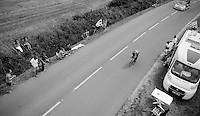 Yohann Gene (FRA/Team Europcar) solo<br /> <br /> stage 9: TTT Vannes - Plumelec (28km)<br /> 2015 Tour de France