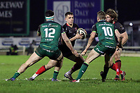 27th December 2020 | Connacht  vs Ulster <br /> <br /> James Hume is tackled by Tom Daly during the Guinness PRO14 match between Connacht and Ulster at The Sportsground in Galway. Photo by John Dickson/Dicksondigital