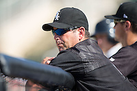 Chicago White Sox minor league outfield and base running instructor Aaron Rowand during the South Atlantic League game between the Greensboro Grasshoppers and the Kannapolis Intimidators at Intimidators Stadium on July 17, 2016 in Greensboro, North Carolina.  The Intimidators defeated the Grasshoppers 3-2 in game one of a double-header.  (Brian Westerholt/Four Seam Images)