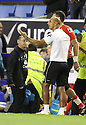 Stevenage assistant manager Dino Maamria complains about the amount of injury time in the first half<br />  - Everton v Stevenage - Capital One Cup Second Round - Goodison Park, Liverpool - 28th August, 2013<br />  © Kevin Coleman 2013