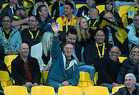 Fans in the grandstand during the Super Rugby match between the Hurricanes and Jaguares at Westpac Stadium, Wellington, New Zealand on Saturday, 9 April 2016. Photo: Dave Lintott / lintottphoto.co.nz