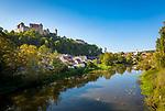 Deutschland, Bayern, Harburg (Schwaben): Stadt mit der gleichnamigen Burg Harburg, liegt im schwaebischen Landkreis Donau-Ries, im Tal der Woernitz, an der Romantischen Strasse | Germany, Bavaria, Swabia, Harburg: town at river Woernitz with Harburg Castle, at Romantic Road (theme route)