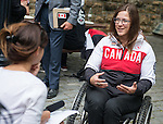 Ottawa ON - June 4 2014 - Kimberly Joines during the Celebration of Excellence visiting Parliament Hill. (Photo: Matthew Murnaghan/Canadian Paralympic Committee)