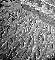 aerial photograph of erosion in Death Valley National Park, northern Mojave Desert, California