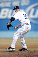Asheville Tourists starting pitcher Eddie Butler #30 delivers a pitch during a game against the Greenville Drive  at McCormick Field on May 13, 2013 in Asheville, North Carolina. The Tourists won the game 1-0. (Tony Farlow/Four Seam Images).
