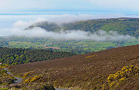 Looking towards the coast from Wheddon Cross, Somerset. Mist.