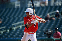 Tyree Reed (7) bats during the Baseball Factory All-Star Classic at Dr. Pepper Ballpark on October 4, 2020 in Frisco, Texas.  Tyree Reed (7), a resident of Vallejo, California, attends American Canyon High School.  (Mike Augustin/Four Seam Images)
