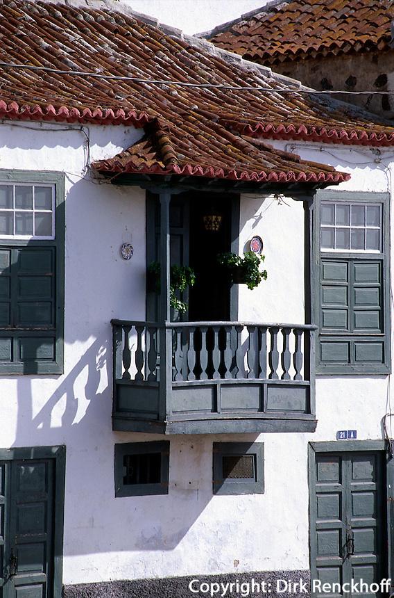 Spanien, Kanarische Inseln, La Palma, Tazacortes, La Palma, Tazacortes, Alte Bürgerhäuser