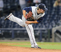 9 April 2008: LHP Mark Rosen of the Mobile BayBears, Class AA affiliate of the Arizona Diamondbacks, in the season opener against the Mississippi Braves at Trustmark Park in Pearl, Miss. Photo by:  Tom Priddy/Four Seam Image