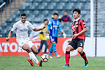 FC Seoul Defender Jung In Whan (r) is chased by Auckland City Forward Ryan de Vries (l) during the 2017 Lunar New Year Cup match between Auckland City FC (NZL) vs FC Seoul (KOR) on January 28, 2017 in Hong Kong, Hong Kong. Photo by Marcio Rodrigo Machado/Power Sport Images