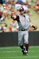 Shofner, Caleb 0427.jpg.  Big 12 Baseball game with Texas A&M Aggies at Texas Lonhorns  at UFCU Disch Falk Field on May 9th 2009 in Austin, Texas. Photo by Andrew Woolley.