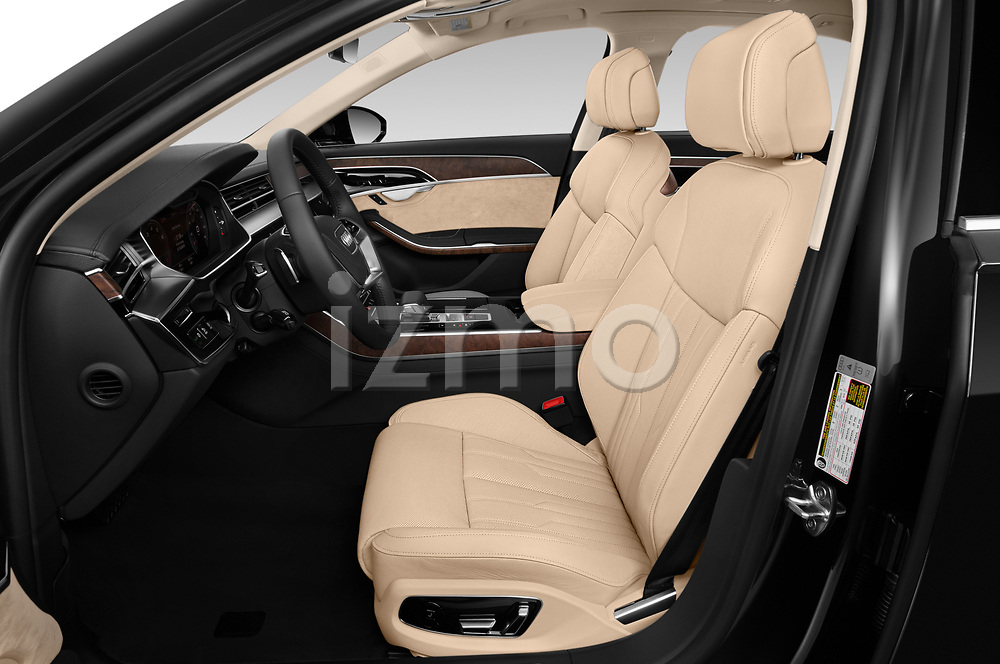Front seat view of a 2019 Audi A8 L . 4 Door Sedan
