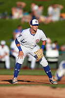 South Bend Cubs first baseman P.J. Higgins (7) during a game against the Burlington Bees on July 22, 2016 at Four Winds Field in South Bend, Indiana.  South Bend defeated Burlington 4-3.  (Mike Janes/Four Seam Images)