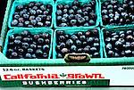 Blueberries at the Farmer's Market in San Luis Obispo, California