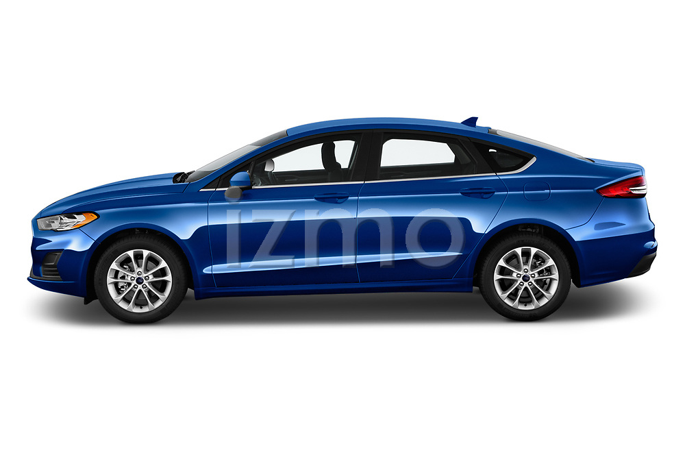 Car Driver side profile view of a 2020 Ford Fusion SE 4 Door Sedan Side View