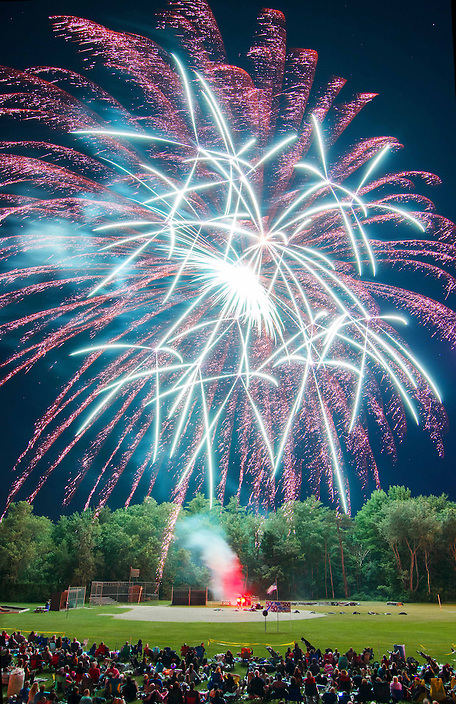 The fourth of July celebration in Ashland, New Hampshire is sure to please. With tons of shells fired, the show is fantastic and well attended… Get there early !