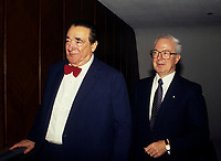 Montreal (Qc) Canada  file Photo - 1988 -- Robert Maxwell, <br /> <br /> , Andre Bisson
