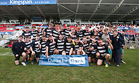 Wednesday 4th March 2020 | WHS vs MCB<br /> <br /> Wallace High School celebrate winning the Ulster Schools' Cup Semi-Final between Wallace High School and MCB at Kingspan Stadium, Ravenhill Park, Belfast, Northern Ireland. Photo by John Dickson / DICKSONDIGITAL