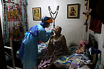 Colombia Health Workers collect samples from residents to prevent COVID-19 pandemic spread