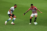 4th October 2020; Couto Pereira Stadium, Curitiba, Parana, Brazil; Brazilian Series A, Coritiba versus is taken on by Luciano of Sao Paulo