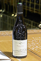 bottle with moulded relief on the neck tradition 2006 domaine giraud chateauneuf du pape rhone france