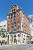 The historic Peoples National Bank & Trust Company building, now used by the Westchester County Arts Council, in downtown White Plains, New York.