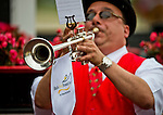 May 16, 2014: Bugler Sam Grossman plays the Call To The Post for the opening race on Black-Eyed Susan Day at Pimlico Race Course in Baltimore, MD. Scott Serio/ESW/CSM