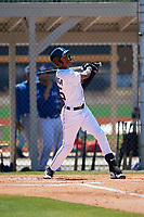 Detroit Tigers Eric De La Rosa (55) during a Minor League Spring Training game against the Toronto Blue Jays on March 22, 2019 at the TigerTown Complex in Lakeland, Florida.  (Mike Janes/Four Seam Images)