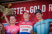 Mathieu Van Der Poel (NED/Correndon-Circus) wins the 54th Amstel Gold Race 2019 (1.UWT) after an incredible race finale where he returned from a beaten position (chasing with 40 seconds down on the race leaders with 3km to go!), but ending up beating everybody in the sprint to the finish (a finale that will go down in the history books!)<br /> <br /> 2nd: Simon Clarke (AUS/EF Education First)<br /> 3rd: Jakob FUGLSANG (DEN/Astana)<br /> <br /> One day race from Maastricht to Berg en Terblijt (NED/266km)<br /> <br /> ©kramon