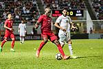 Jean Jacques Kilama of Hong Kong (R) in action during the International Friendly match between Hong Kong and Jordan at Mongkok Stadium on June 7, 2017 in Hong Kong, China. Photo by Cris Wong / Power Sport Images