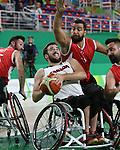 Johnathan Vermette, Rio 2016 - Wheelchair Basketball // Basketball en fauteuil roulant.<br /> The Canadian men's wheelchair basketball team face Turkey in their final round of preliminary play // L'équipe canadienne masculine de basketball en fauteuil roulant affronte la Turquie lors de sa dernière ronde de match préliminaire. 12/09/2016.
