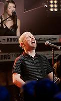 Moby<br />  en entrevue TV a Musique Plus, Avril 2005, Montreal, CANADA<br /> <br /> PHOTO : Agence Quebec Presse