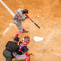 29 May 2016: St. Louis Cardinals outfielder Randal Grichuk in action against the Washington Nationals at Nationals Park in Washington, DC. The Nationals defeated the Cardinals 10-2 to split their 4-game series. Mandatory Credit: Ed Wolfstein Photo *** RAW (NEF) Image File Available ***