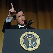 Washington, D.C. - April 29, 2006 -- Comedian Stephen Colbert entertains guests at the White House Correspondents' Association Dinner in Washington on April 29, 2006.   .Credit: Roger L. Wollenberg - Pool via CNP.
