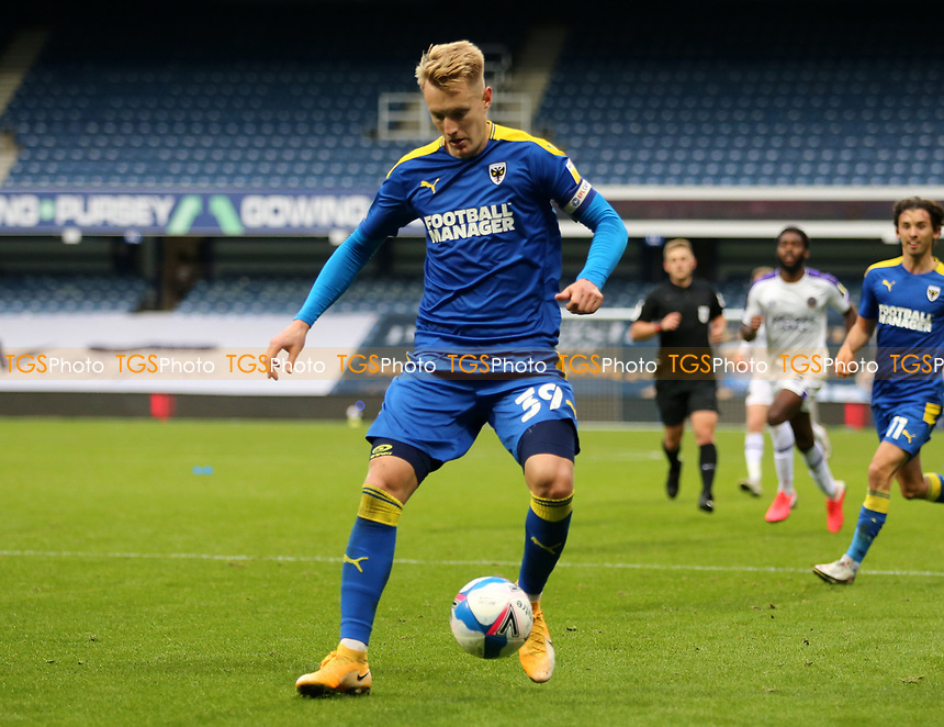 Joe Pigott of AFC Wimbledon during AFC Wimbledon vs Shrewsbury Town, Sky Bet EFL League 1 Football at The Kiyan Prince Foundation Stadium on 17th October 2020