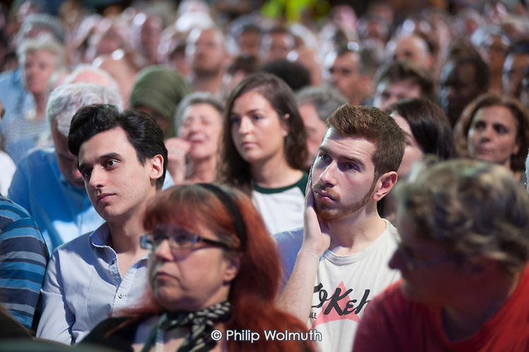 Grassroots for Jeremy. 1500 people attend a rally in support of Jeremy Corbyn for Labour Leader. Camden Centre, London.
