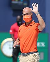 MIAMI GARDENS, FLORIDA - APRIL 04: (NO SALES TO NEW YORK POST) Hubert Hurkacz of Poland defeats Jannik Sinner of Italy during the men's singles final at the Miami Open at Hard Rock Stadium. on April 04, 2021 in Miami Gardens, Florida.<br /> <br /> <br /> People:  James Blake Credit: hoo-me / MediaPunch