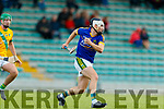 Darragh Shanahan Lixnaw in action against  Kilmoyley during the Senior Kerry County Hurling Semi Finals between Lixnaw v Kilmoyley at Austin Stack park on Saturday last.